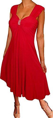 4fb38ae3be4 Funfash Plus Size Clothing Women Empire Waist Slimming Midi Dress ...