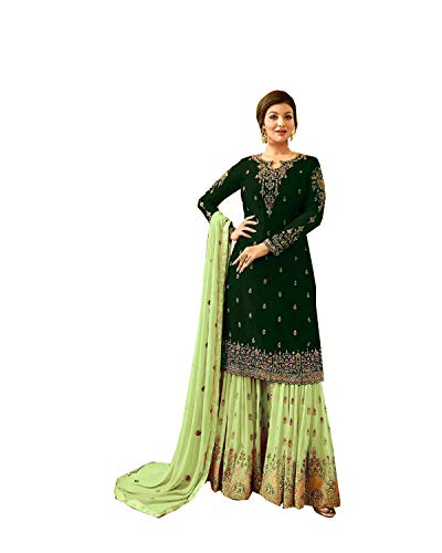 Delisa Indian/Pakistani Pant Style Salwar Suit for Women Fiona (Green, ()