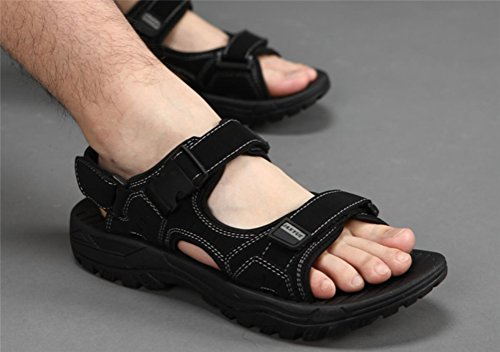 Mens Flat Sporty Beach Sandal Water Shoes Casual Athletic Sandals Black Y5f2m52V2t