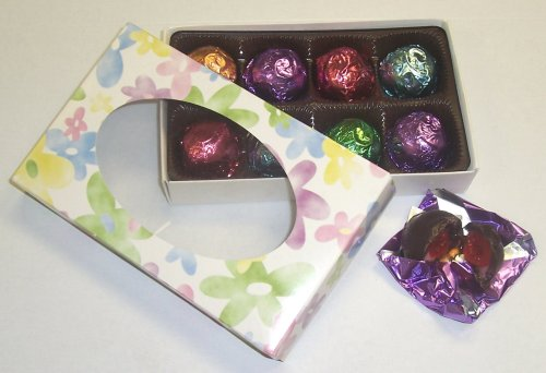Scott's Cakes 1/2 lb. Dark Chocolate Covered Vodka Cherries in a Daisy Box with Pastel Color Foils by Scott's Cakes