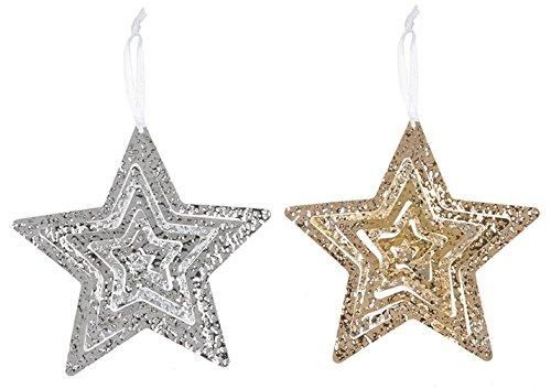 Glitter Star Ornament, Gold ()