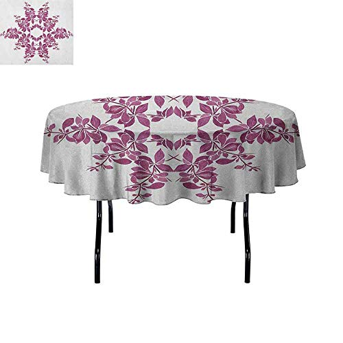 DouglasHill Purple Printed Tablecloth Autumn Vine Bridal Flower