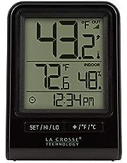 La Crosse Technology 308-1409BT-CBP Wireless Temperature Station with Time, Black