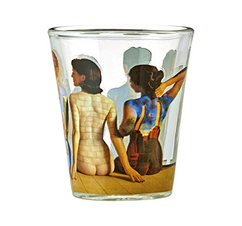 JUST FUNKY Pink Floyd Backs Shot Glass, - Glasses Shot Pink Glass