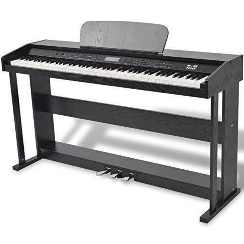 Festnight 88-key Digital Piano with 150 different sounds and Pedals Black Melamine Board, includes an Adapter and a Power Cord