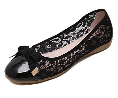 Shoes Insun Stretch Mesh Slip Women's Flat Black On UUPAwq