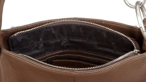 Poodlebags Celebrity - authentic - Naomi - black 320711EB - Bolso de hombro de cuero para mujer Marrón