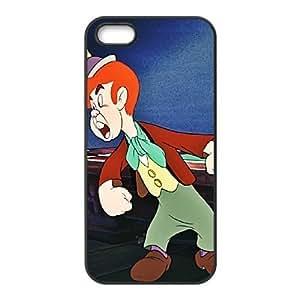 iPhone 5 5s Cell Phone Case Black Disney Pinocchio Character Lampwick 07 Bqvgw
