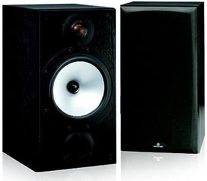 Monitor Audio MR2 2 Way Bookshelf Speaker Pair Black Oak Vinyl Wrap