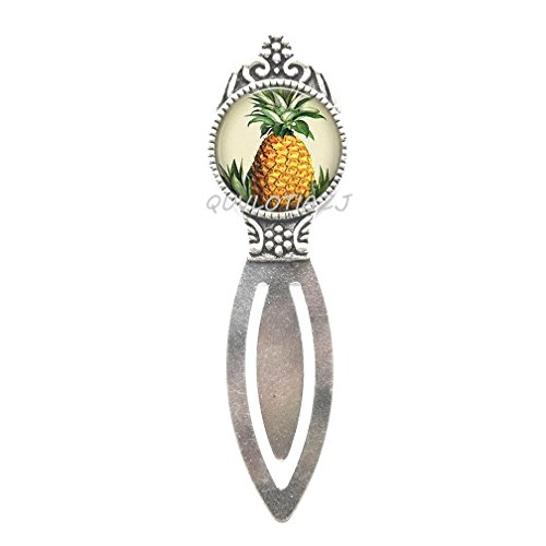 Silver Bookmarks Charm (Pineapple Bookmark,Pineapple Charm Bookmarker Silver Pineapple Jewelry Fruit Bookmark,Friend Gift, Friend Bookmark,ot310 (A1))