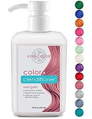 Keracolor Color Plus Clenditioner, Rose Gold, 12 ounce