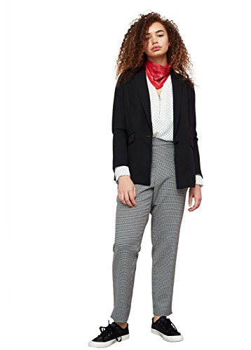 Violeta By Mango Women's Plus Size Unstructured Flowy Blazer , Black, 12