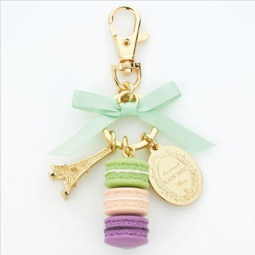 Amazon.com: LADUREE Keychain Ring Eiffel Tower Macaron Charm ...