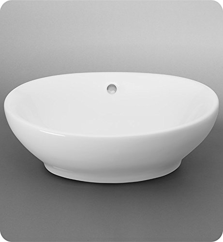 Oval Ceramic Vessel Bathroom Sink with Overflow - Ronbow Oval Ceramic