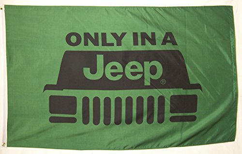 Jeep Flag 3' X 5' Indoor Outdoor Only In A Jeep Banner