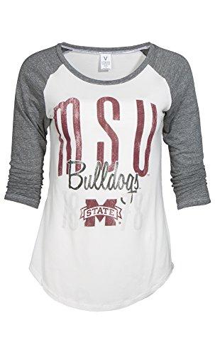 NCAA Mississippi State Bulldogs Sierra Baseball Tee, X-Large, - State Bulldogs Mississippi Baseball