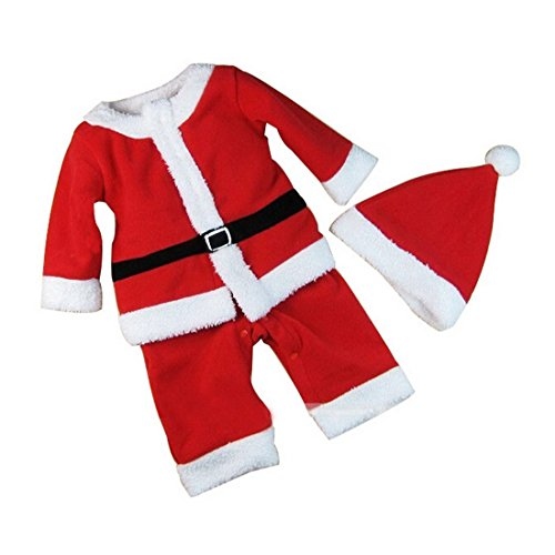 6e40f8a785391 Aivtalk-Pyjama et Bonnet en Polyester Ensemble Combinaison Bordé Grenouillère  Déguisement Bébé Enfant Mignon Père