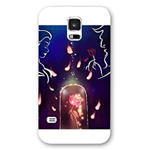 Customized White Frosted Disney Cartoon Movie Beauty and The Beast Samsung Galaxy S5 Case