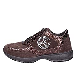 Enrico Coveri Fashion Sneakers Womens Suede Brown 7 Us