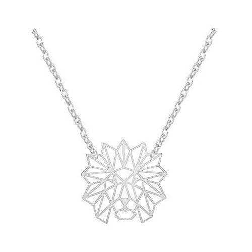 NOUMANDA Charm Hollow Lion Head Pendant Necklace Classic Animal Elements Pendants Jewelry Gifts for Women (Silver)