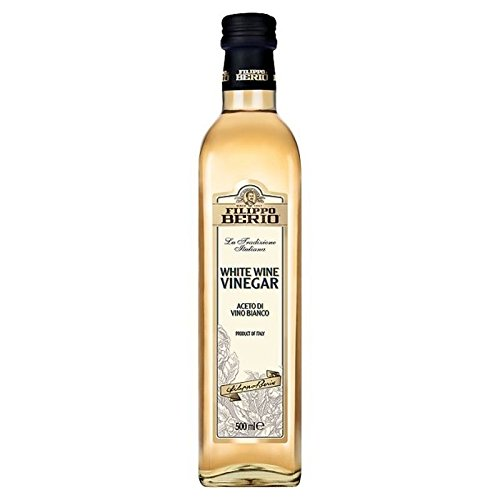 Filippo Berio White Wine Vinegar 500ml - Pack of 6 by Filippo Berio