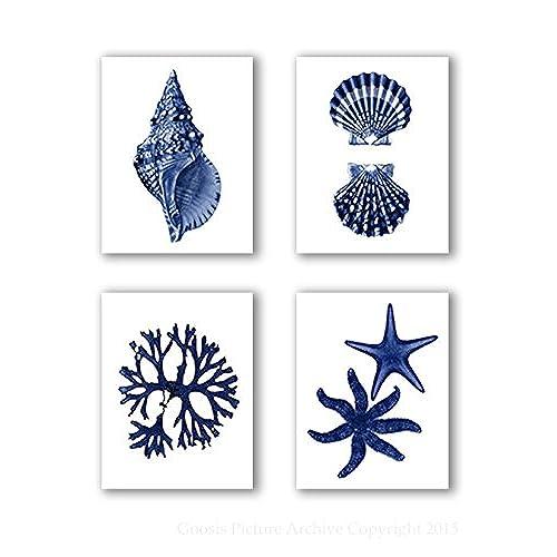 navy blue wall art amazon com
