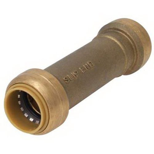 SharkBite Slip Coupling, U3008LFA 1/2 inch Repair Plumbing Fitting Pipe Connector, Push-to-Connect, Copper, CPVC (Slip Joint Coupling)