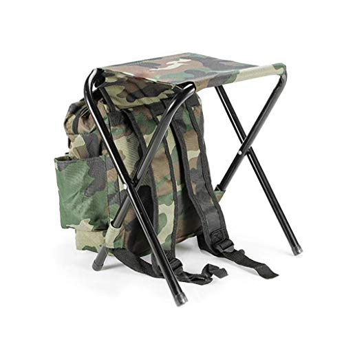 EAPTS Folding Camping Fishing Chair Stool Backpack Picnic Bag Hiking Camouflage Seat Table Bag ()