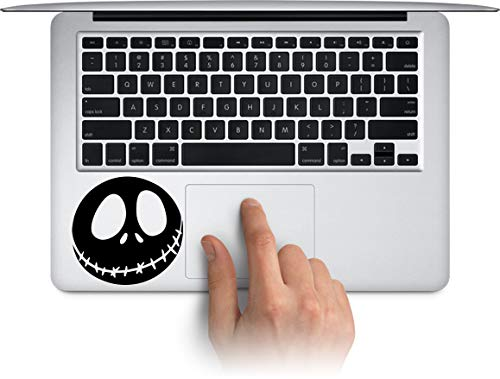 WallDecalArtStudio Jack Skellington Scary Face Nightmare Before Christmas Halloween Decoration for MacBook mac air Laptop trackpad Toolbox Decal Sticker -