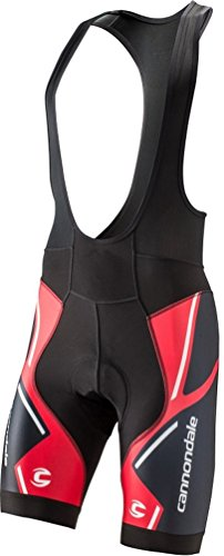 Cannondale Men's 5M229 Performance 2 BIB Shorts Printed Red/Black -