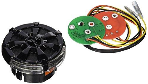 Kuryakyn 7383 Alley Cat Gloss Black LED Fuel/Battery Gauge