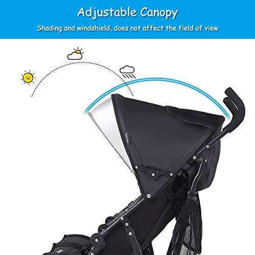 Amazon.com: BABY JOY - Cochecito doble ligero, diseño ...