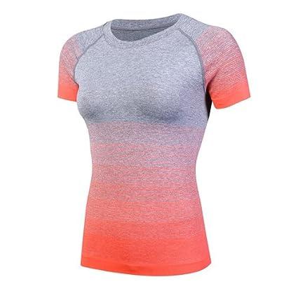 Deporte Yoga CAMISETA MANGA CORTA Camiseta Mujer ejecutando ...