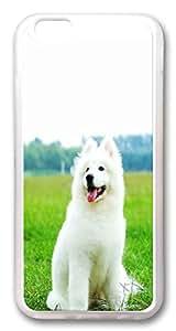 Cute white dog Custom iphone 6 plus 5.5inch Case Cover TPU Transparent