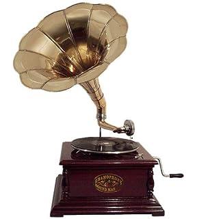 Grammophon 4-eckig Trichter Gramofon Phonograph Schellackplatten Gramophone Top Grammophone Mechanische Musik