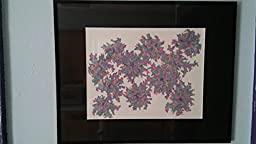 Abstract Flowers - Multicolored Pen and Ink Original Artwork Framed, 11\