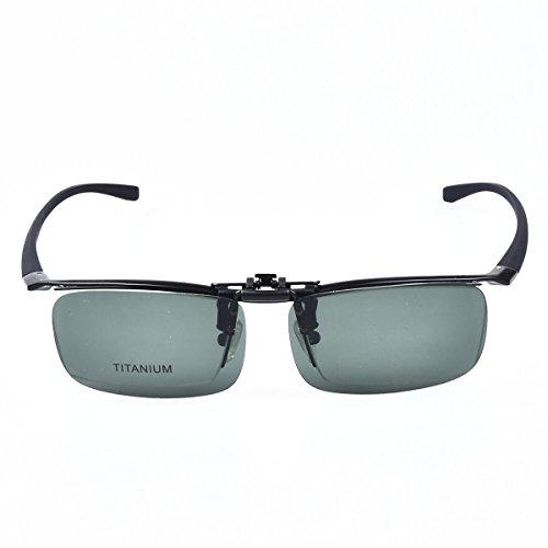 a992a8be6e SO SMOOTH WIND Pure Titanium Glasses men Eyeglasses Prescription Eyewear  Frame With Polarized Sunglasses Clip (Black