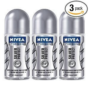 Price comparison product image New Nivea Deo for Men 48h Silver Protect Antiperspirant Deodorant Roll-on 50ml (3pcs/pack)
