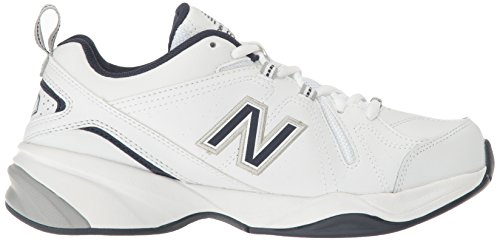 New Balance Men's MX608v4 Training Shoe, White/Navy, 10 4E US