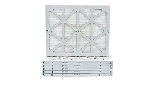 Removes Dust Pleated Fits Listed Models of Carrier Glasfloss 16-3//8 x 21-1//2 x 1 MERV 10 Air Filters Bryant /& Payne Made in USA Pollen /& Many Other Allergens. Case of 4