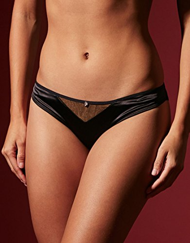 Curvy Kate Scantilly Peek-A-Boo Bikini Brief Panty (ST2305) L/Black