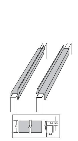 (Custom Accents Pvc Hanging File Rail For 1/2