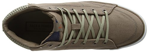 JACK & JONES Jjdeeside Canvas High Sneaker Taupe Grey - Zapatillas altas Hombre Gris - Grey (Taupe Gray)