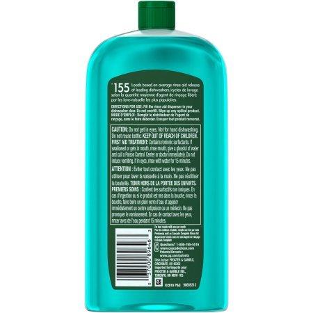 Cascade Rinse Aid Platinum, Dishwasher Rinse Agent, Regular Scent (Pack of 2)