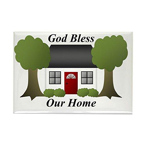 CafePress God Bless Our Home Rectangle Magnet, 2