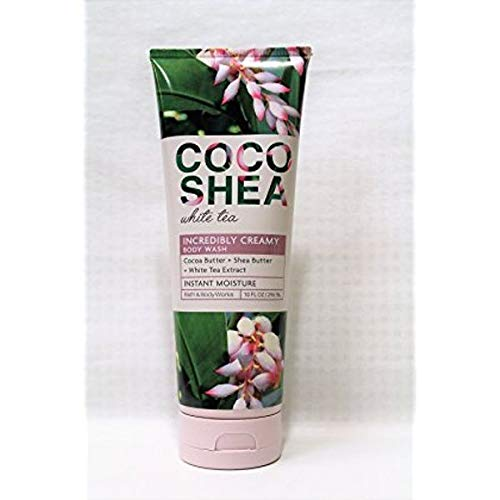 Bath and Body Works CocoShea White Tea Incerdible Creamy Body Wash 10 Ounce Retired (Creamy Body Cleanser With White Tea)