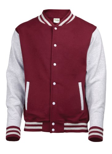 Burgundy Heather Sweat Homme Grey Jacket Shirt Awdis Varsity EqYXwxR