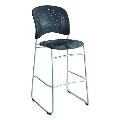 Safco Products 6806BL Reve Bistro Height Chair with Round Back, Black
