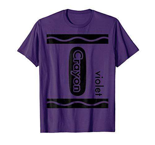 Violet Purple Crayon Halloween Costume T-Shirt Men