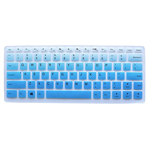 "Keyboard Protector for Lenovo Yoga 710 14 14"", Yoga 710 15 15.6"", Flex 4 14"", ideapad 110 14"", ideapad 310s 14"", ideapad 510s 14"" US Layout (Gradual Blue) -  Buymall, 4328700990"
